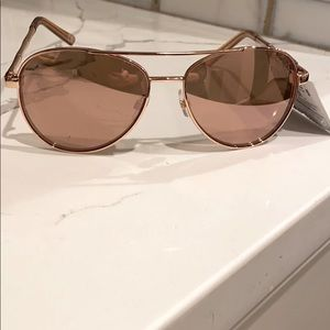 NWT. MIXIT Rose Gold Aviator Sunglasses.